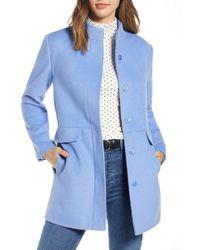 1901 Snap Front Coat (regular & Petite) - Blue