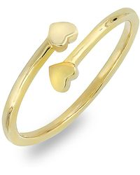 Bony Levy - 18k Yellow Gold Double Heart Wrap Ring - Lyst