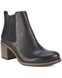 White Mountain Footwear Destiny Block Heel Chelsea Bootie - Black