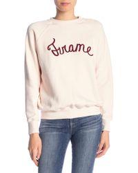 FRAME - Graphic Old School Sweatshirt - Lyst