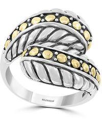 Effy Sterling Silver & 18k Gold Wrap Ring - Size 7 - Metallic