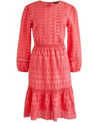 J.Crew - Long Sleeve Embroidered Dress - Lyst