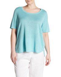 Eileen Fisher - Knit Short Sleeve Tee (plus Size) - Lyst