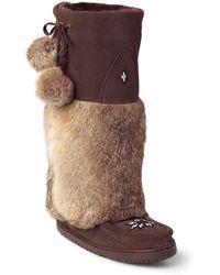 Manitobah Mukluks - Genuine Rabbit Fur & Sheepskin Footbed Tall Kanada Mukluk - Lyst
