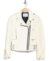 FRAME Pch Leather Zip Jacket - White