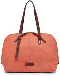 Liebeskind Berlin - Tumble Wash Rounded Leather Satchel - Lyst