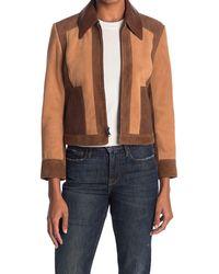 FRAME Patchwork Leather Jacket - Multicolor