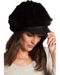 Surell - Genuine Rabbit Fur Cabbie Hat - Lyst