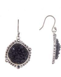 Lucky Brand - Pave Druzy Drop Earrings - Lyst
