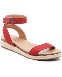 Lucky Brand Garston Espadrille Sandal - Red