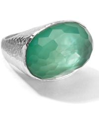 Ippolita - Sterling Silver Wonderland Mint Oval Ring - Size 6 - Lyst