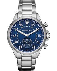 MICHAEL Michael Kors - Men's Gage Stainless Steel Bracelet Watch, 44mm - Lyst
