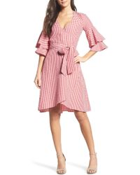 Charles Henry - Ruffle Wrap Dress - Lyst