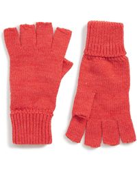 Trouvé Trouv? Fingerless Gloves - Red