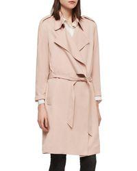 AllSaints Bexley Mac Jacket - Pink