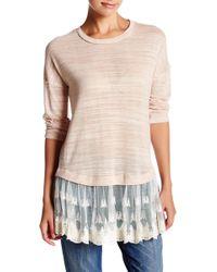 Blu Pepper - Layered Look Sweater - Lyst