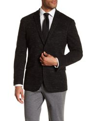 Kenneth Cole Reaction - Black Marled Knit Two Button Notch Lapel Trim Fit Sport Coat - Lyst