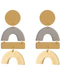 Madewell - Two-tone Flatform Statement Earrings - Lyst