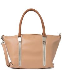 Lancaster Leather Crossbody Tote Bag - Multicolor