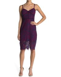 Guess Lace Corset Bodycon Dress - Red