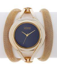 Catherine Malandrino - Women's Mesh Tube Wrap Bracelet Watch - Lyst