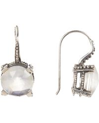 Stephen Dweck - Sterling Silver Round-cut Crystal Drop Earrings - Lyst