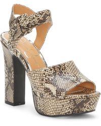 Jessica Simpson Naenia Platform Sandal - Metallic
