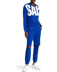Sam Edelman Knee Slit Sweatpants - Blue