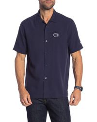 Tommy Bahama - Team Sports Collegiate Catalina Silk Short Sleeve Standard Fit Shirt - Lyst
