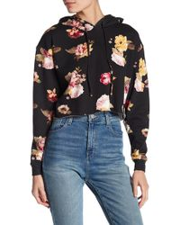 Love, Fire | Floral Print Cropped Hoodie | Lyst