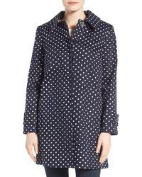 Charles Gray London - Contrast Collar Detail Polka Dot Coat - Lyst