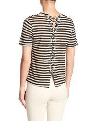 A.L.C. - Alber Striped Linen Tee - Lyst