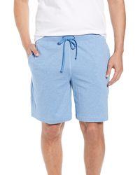 Daniel Buchler Peruvian Pima Cotton Lounge Shorts - Blue