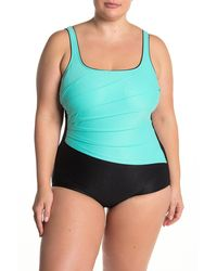 Reebok Viva Vortext 19 Colorblock One-piece Swimsuit - Black