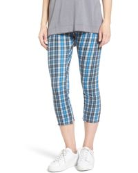 Frank & Eileen French Terry Cropped Leggings - Blue