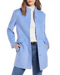 Nordstrom 1901 Snap Front Coat - Blue