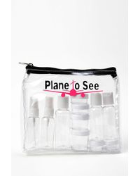 MIAMICA Plane To See Tsa Compliant Security Case - 15-piece Set - Clear - White