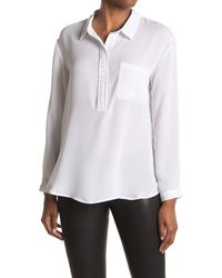 Laundry by Shelli Segal Patch Pocket Tunic Top - White