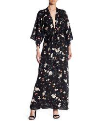 Soprano - Floral V-neck Maxi Dress - Lyst