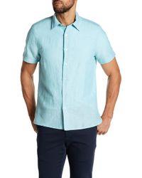Perry Ellis - Solid Linen Blend Shirt - Lyst