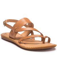 Born Favigana Leather Sandal - Brown