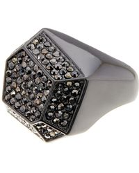 Ariella Collection | Geometric Pave Ring | Lyst
