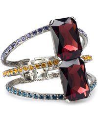Oscar de la Renta - Glass Crystal 3-strand Bracelet - Lyst