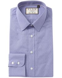 Thomas Pink - Eno Textured Solid Super Slim Fit Dress Shirt - Lyst