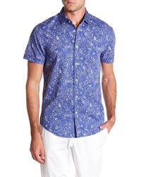 Report Collection - Ocean Short Sleeve Slim Fit Shirt - Lyst