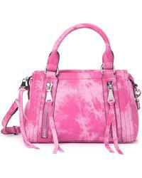 Aimee Kestenberg Aimee Kestenburg Zip Me Up Mini Leather Satchel In Pink Tie Dye At Nordstrom Rack