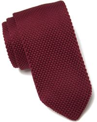 Paisley and Gray - Stanley Merlot Solid Knit Tie At Nordstrom Rack - Lyst