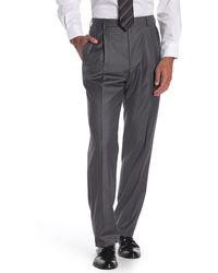 Zanella Bennett Flat Front Wool Dress Pants - Gray