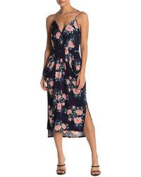 BCBGeneration - Floral Pocket Midi Dress - Lyst