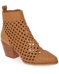 MICHAEL Michael Kors Augustine Woven Ankle Mid Bootie - Brown